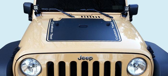 Phoenix Graphix 2007 15 Jeep Jk Wrangler Hood Black Out