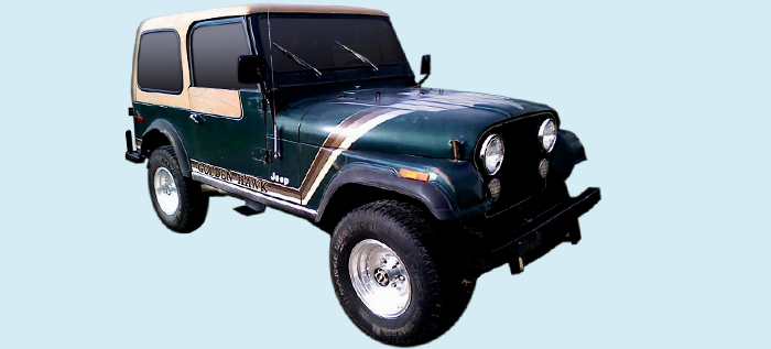 Jeep Decal PAIR Jeep CJ Replacement Hub Decals
