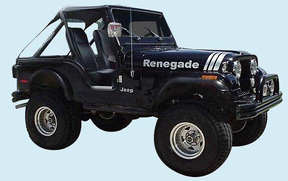 Phoenix Graphix 1970 1995 Jeep Renegade Decal Kit