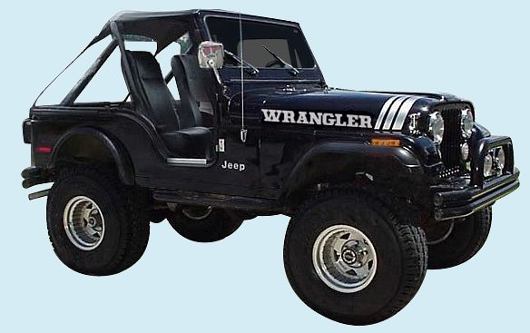 Phoenix Graphix 1970 1997 Jeep Wrangler Decal Kit