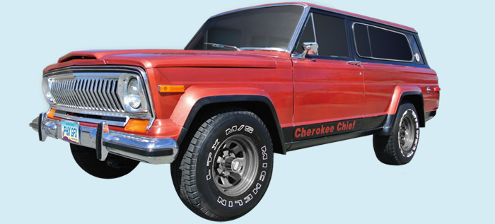 Phoenix Graphix 1975-78 Jeep Cherokee SJ Chief Decal Kit