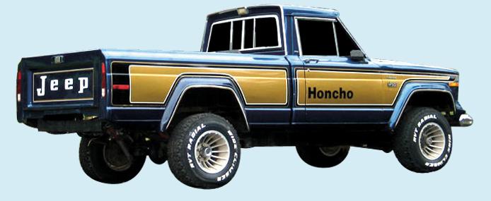 Phoenix Graphix 1976 78 Jeep Honcho Truck Decal Kit