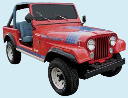 Phoenix Graphix 1979 80 Jeep Renegade Decal Kit