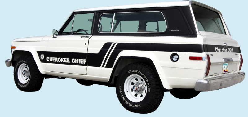 Phoenix Graphix 1981 83 Jeep Cherokee Sj Chief Decal Kit