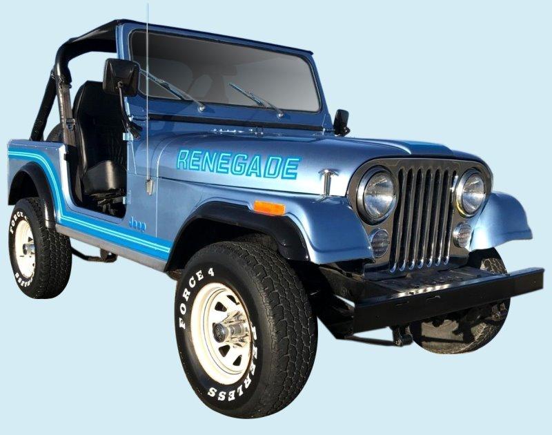 Phoenix Graphix 1985-86 Jeep Renegade Decal Kit