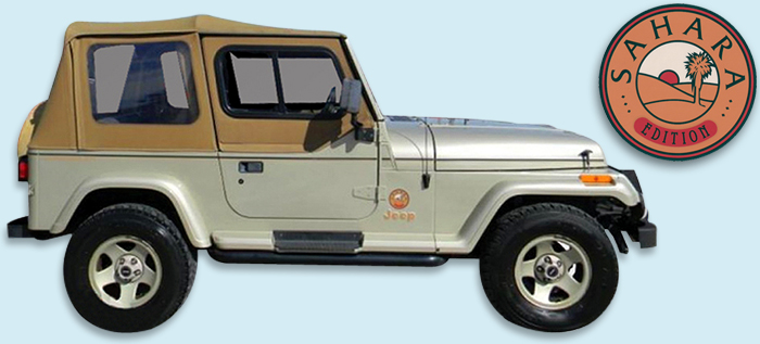 phoenix graphix 1992-94 jeep® wrangler sahara edition decal kit