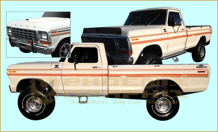 1973 Ford Truck Explorer Side Stripes Graphics Decal 3M Vinyl