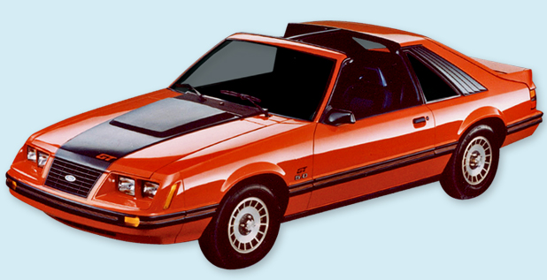 Mustang Decals And Stripes >> 1983-84 Mustang GT Hood Stripe & Names Decal Kit