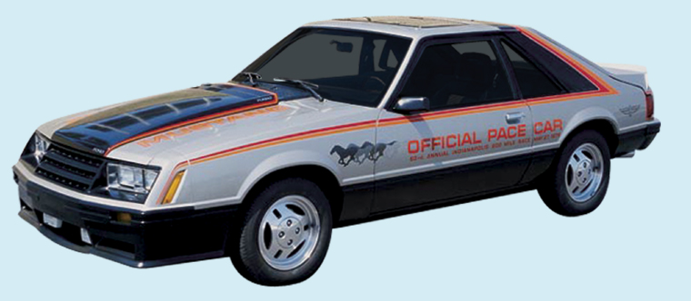Phoenix Graphix 1979 Ford Mustang Indy Pace Car Decal Kit