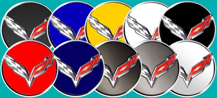 Phoenix Graphix 2014 17 Corvette C7 Wheel Center Cap