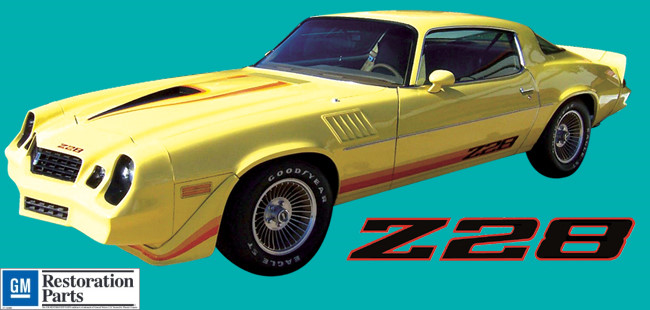 1979 Chevrolet Camaro Z28 Dual Color Kit Decal And