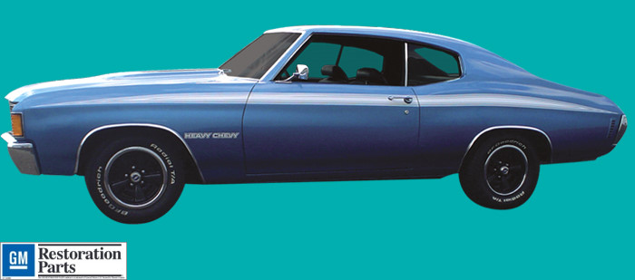 1971 72 Heavy Chevy Chevelle Stripe Amp Decals Kit