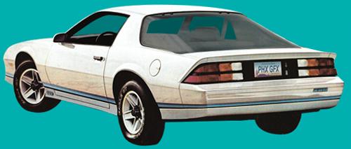 198284 Camaro Z28 Decal and Stripe Kit