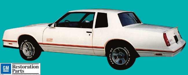1987-88 Chevrolet Monte Carlo SS Decal and Stripe Kit