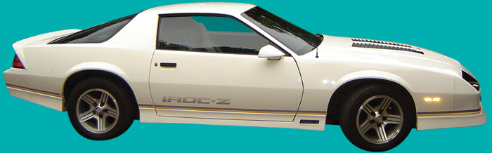 1988 90 Camaro Iroc Z Decal And Stripe Kit