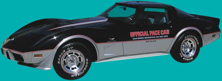 1978 corvette c3 pace car side view