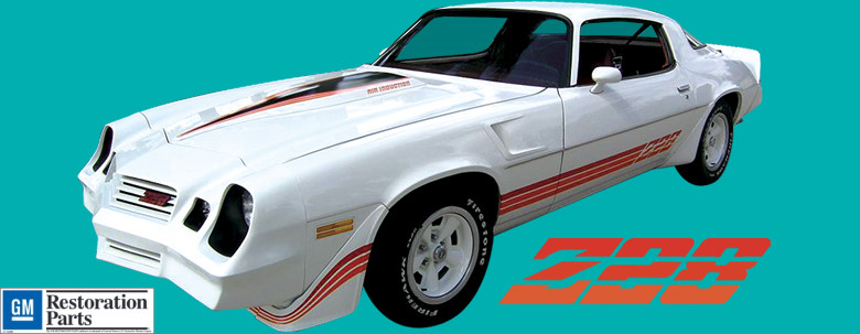 1980 81 Chevrolet Camaro Z28 Tri Color Kit Decal And