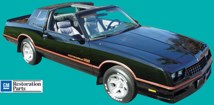 1985 86 Chevrolet Monte Carlo Ss Decal And Stripe Kit