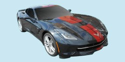 2014-19 Chevrolet Corvette Full Length Racing Stripe Kit