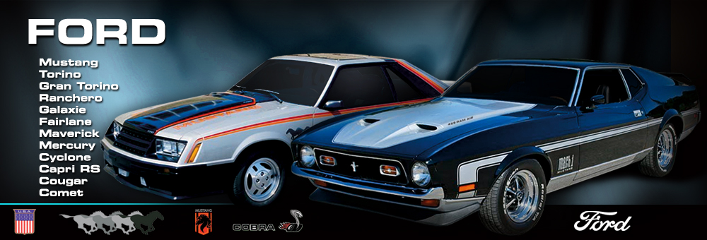 1985 1986 Mustang GT Decals /& Stripes Kit