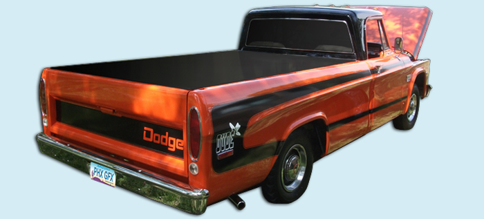 phoenix graphix 197071 dodge dude truck decal kit