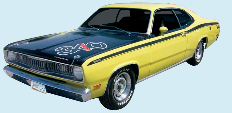 Phoenix Graphix 1971 72 Plymouth Duster Decal Kit