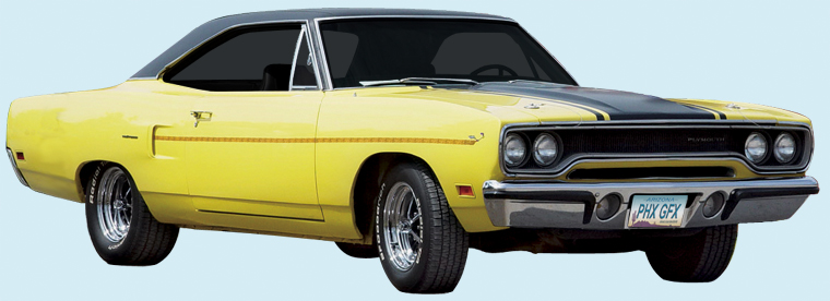 Plymouth roadrunner decal