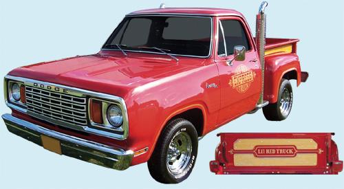 Phoenix Graphix 1978 79 Dodge Lil Red Express Truck Decal Kit
