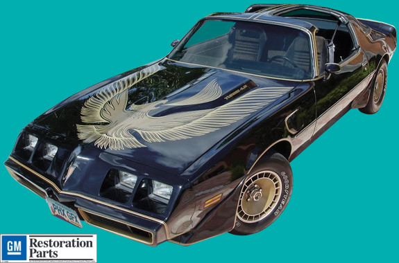 1981 PONTIAC TRANS-AM DECKLID DECAL GOLD