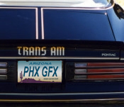 1976-78 Limited Edition Trans Am Tail Decal