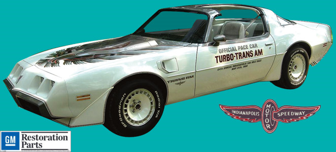 1980 trans am indy 500 pace car turbo right 3 4 view